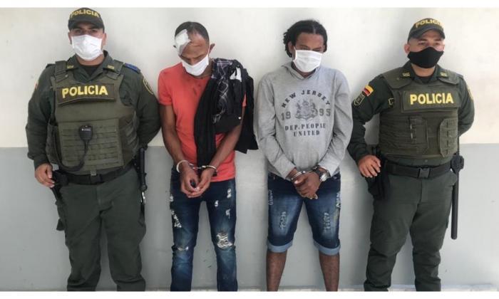 Álvaro Javier López De la Cruz y Elkin Antonio De la Cruz Cervantes, capturados.
