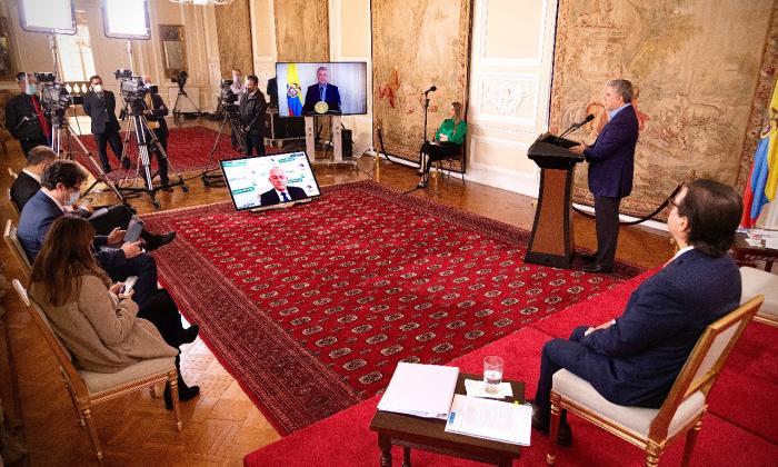 Aspecto de la intervención del presidente Duque en la edición 47 de la Asamblea General de la Asociación Colombiana de Exportadores de Flores (Asocolflores)