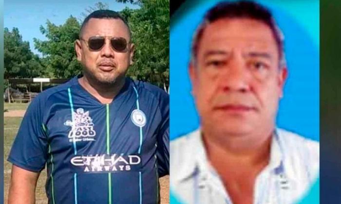 Luis González y Edinson Olmos, fallecidos por COVID-19.