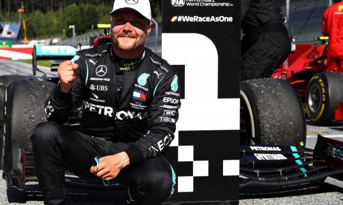 El finlandés Valtteri Bottas tras imponerse en el Gran Premio de Austria.