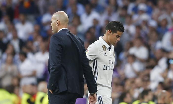 James desaparece para Zidane