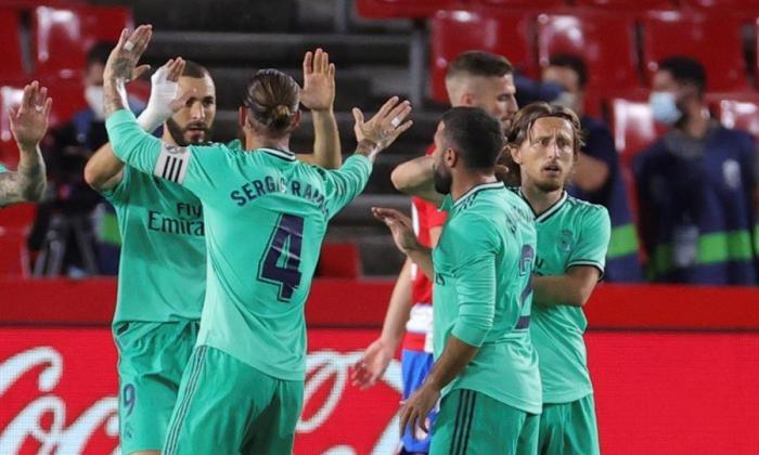 Real Madrid gana y queda a un triunfo del título en España