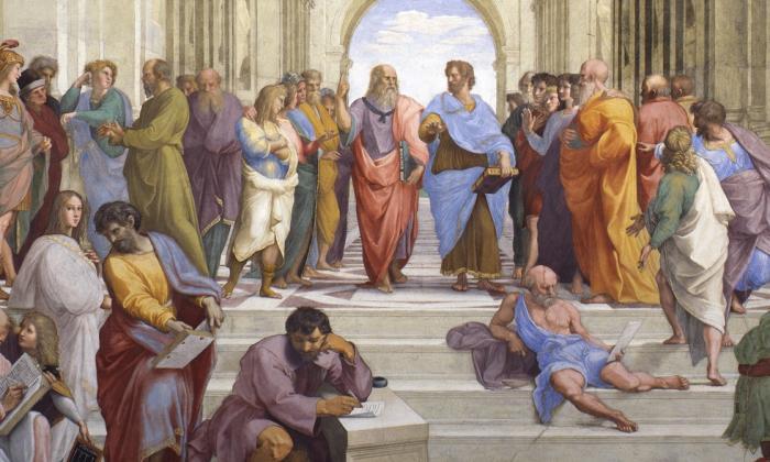 'La scuola di Atene', una de las obras más célebres del pintor Raffaello Sanzio pintada entre 1510 y 1512. Reposa en los Museos Vaticanos.