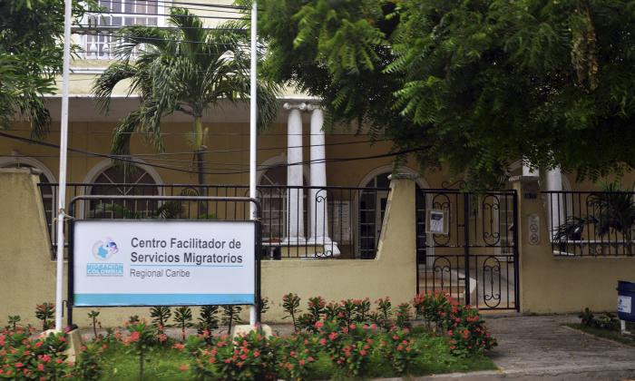 Fachada de la sede regional de Migración Colombia en Barranquilla.