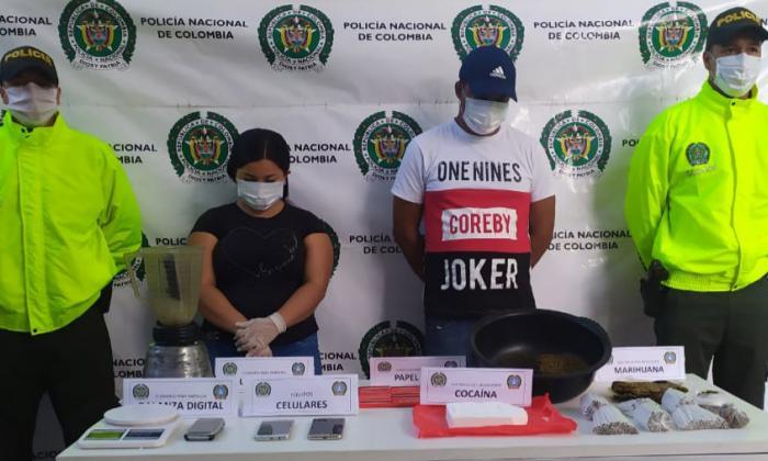 Detienen una pareja en Riohacha con marihuana y cocaína