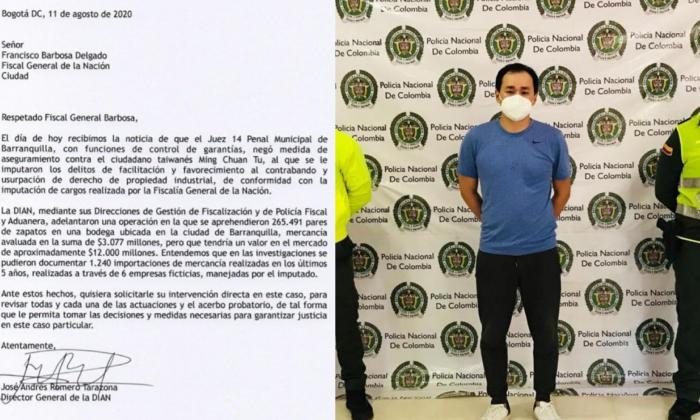 DIAN pide a Barbosa intervenir en caso del 'Zar' del contrabando de zapatos