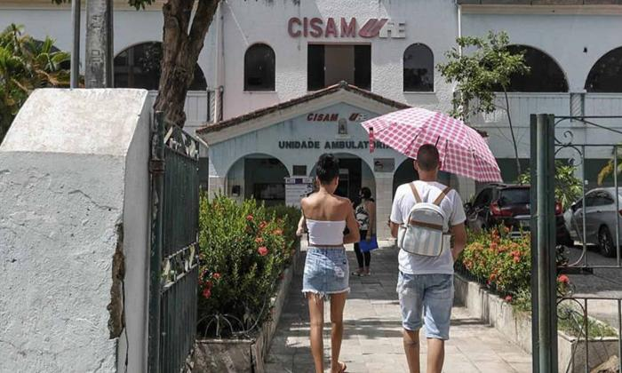 Vista de la fachada del Centro Integrado de Salud Amaury de Medeiros (CISAM) de Recife, una clínica materna pública de referencia en el país para procedimientos de interrupción de embarazo.