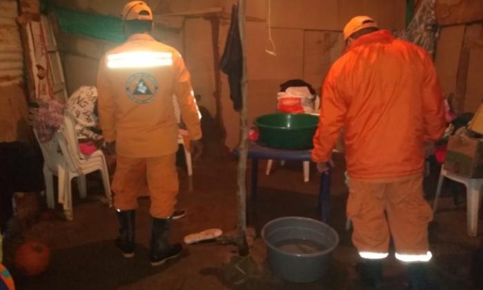 Defensa Civil atendió emergencias en Santa Marta.