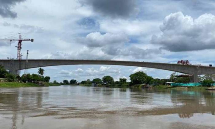 El puente Catalino Parra sobre el Canal del Dique está a cargo del Consorcio Puentes de Bolívar.
