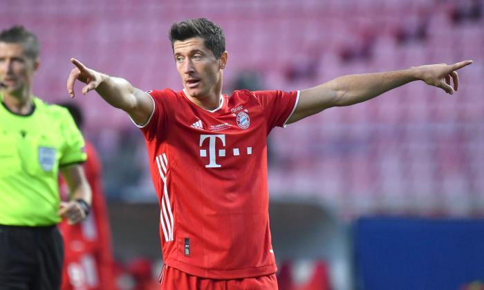 Robert Lewandowski, delantero del Bayern, máximo goleador de la Champions 2019-2020.