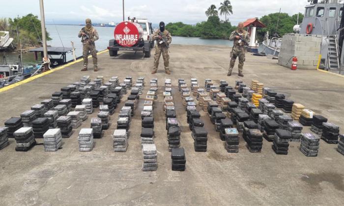 Droga incautada por las autoridades de Panamá.