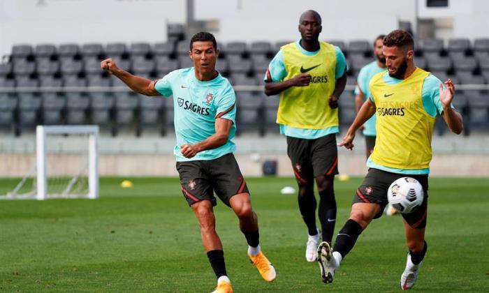 Cristiano Ronaldo no entrena con Portugal por una infección