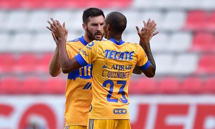 Luis Quiñones, con cuatro asistencias, y André-Pierre Gignac, con siete goles, son  la pareja goleadora del momento en México.