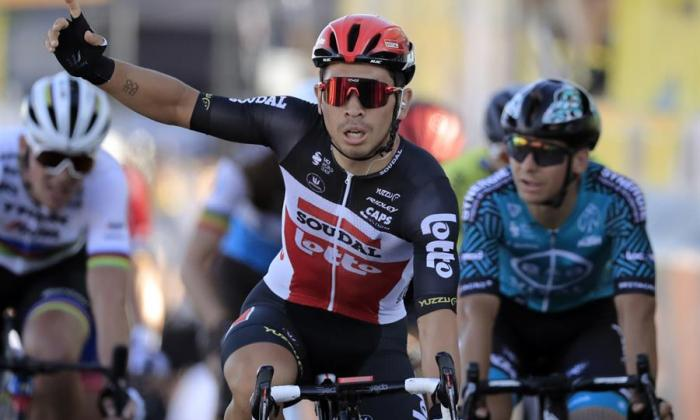 Caleb Ewan, ciclista australiano, se coronó ganador de la etapa once del Tour.