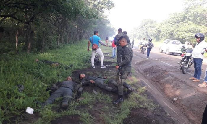 Cinco Policías heridos en accidente en carretera al sur de La Guajira