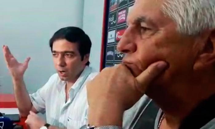 Antonio Char, presidente de Junior, y el técnico Julio Avelino Comesaña.