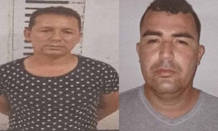 William Rivera Uribe y Marlon Duván Delgado, presuntos extorsionistas capturados.