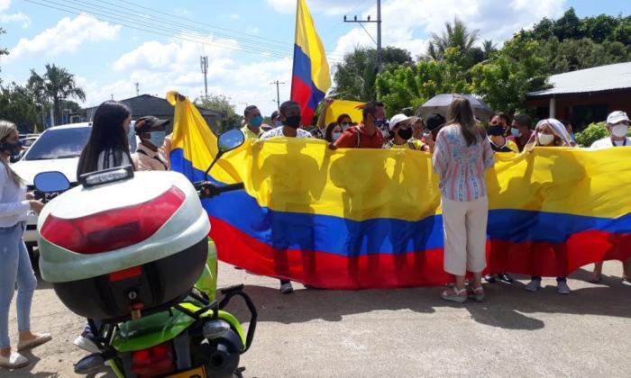 Los seguidores del expresidente Álvaro Uribe.