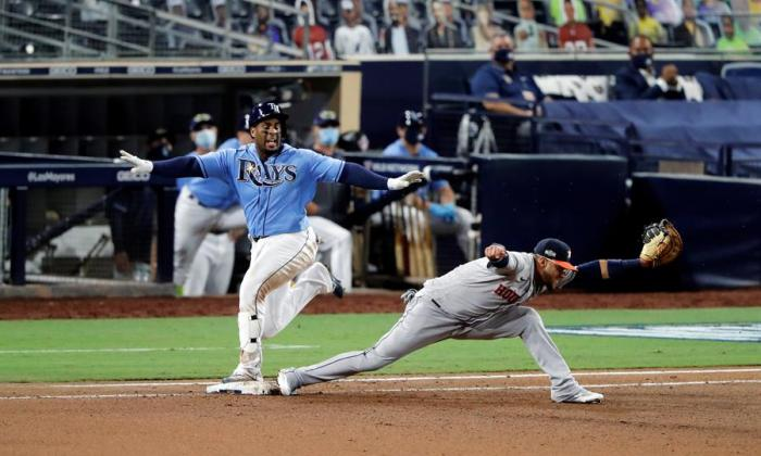 Los Rays se llevaron el primer duelo de la serie, que definirá el campeón de la Liga Americana, en el mejor de siete de juegos.