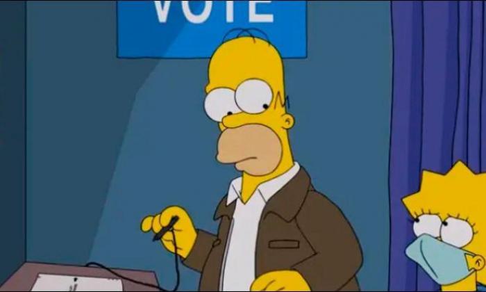 ¿Por quién votará Homero Simpson en las elecciones de EE.UU.?