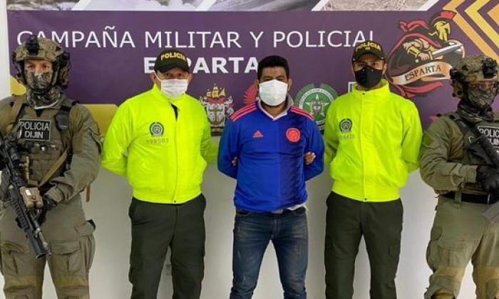 Capturan en Norte de Santander a alias Cóndor, cabecilla de Los Pelusos