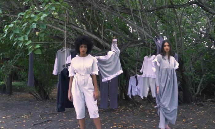 Piezas 'oversized' recicladas de María Luisa Ortiz cerraron Ixel Moda Online