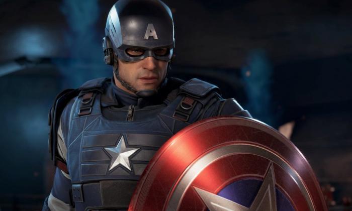 Capitán América hace parte del grupo de superhéroes.