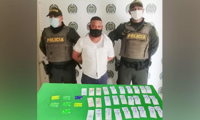 Didier Enrique Suárez San Martín, capturado.