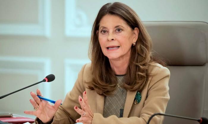 La vicepresidenta Marta Lucía Ramírez dijo que se siente bien de salud.