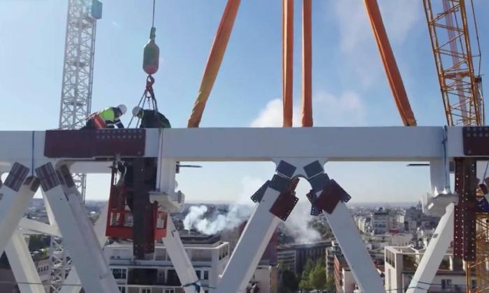 Avanza la construcción de la nueva cubierta del Santiago Bernabéu