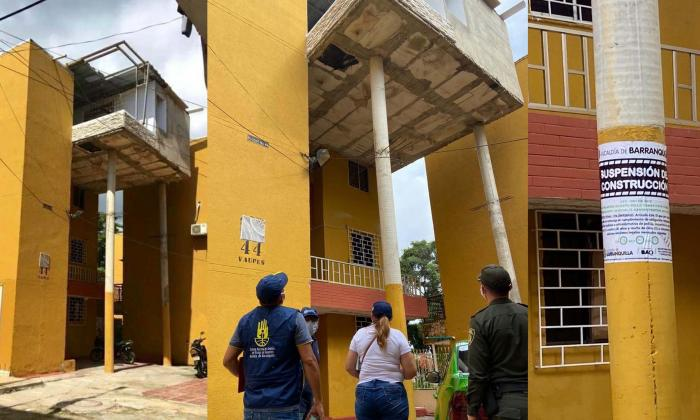 Suspenden obra por violar las normas urbanísticas en Ciudadela 20 de Julio