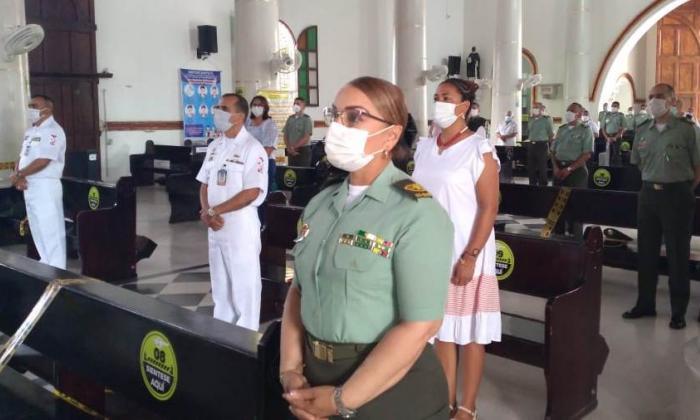 Policía en Sucre celebró aniversario con protocolos de bioseguridad