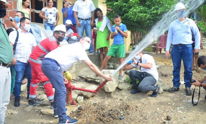 El agua potable llegó a El Poblado, en el sur de Sincelejo