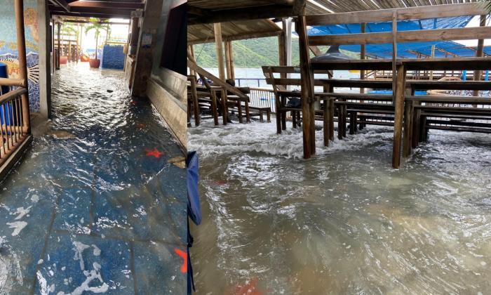 Acuario de El Rodadero en emergencia por marejadas