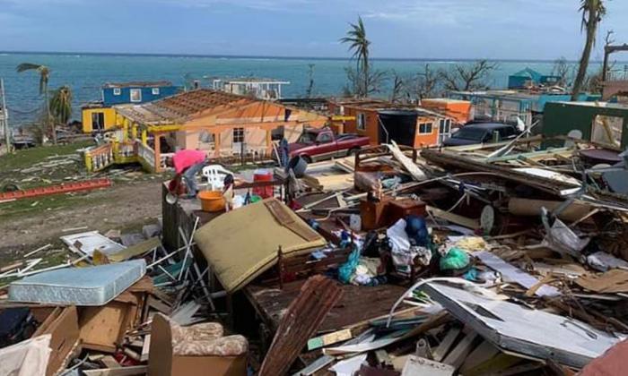 Destrozos dejados como consecuencia del huracán Iota en San Andrés.