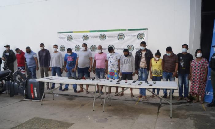 Capturan 14 personas que estarían vinculadas con el grupo los Pachencas