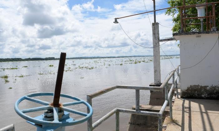 Estación de San Pedrito en donde se mide el nivel del río, ubicada en el municipio de Suan en el Atlántico.