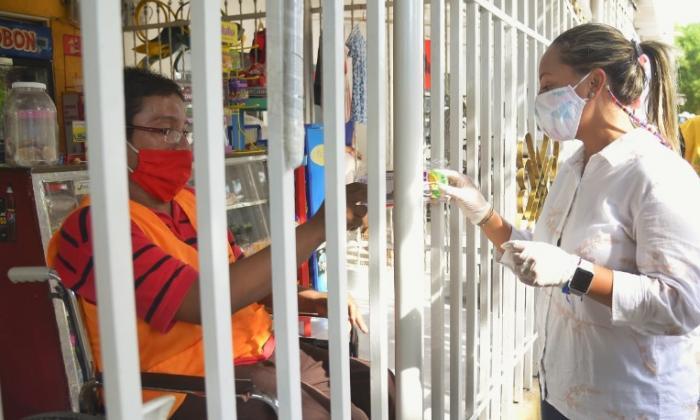 Jornada de prevención de Covid-19 en el barrio Huellas Alberto Uribe