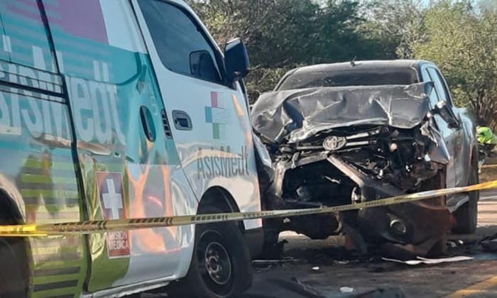 Un muerto y cuatro heridos en accidente en Cesar