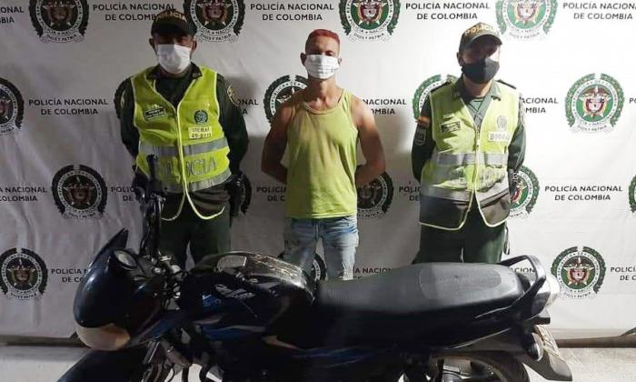 Cae uno de los más buscados en Ciénaga tras robar una moto
