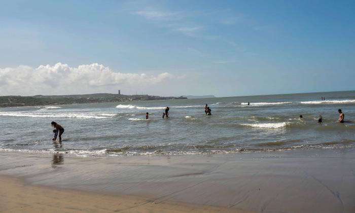 Poca afluencia de visitantes a las playas del departamento