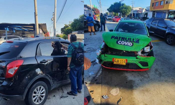Violento choque de patrulla Covid con una camioneta: una persona herida