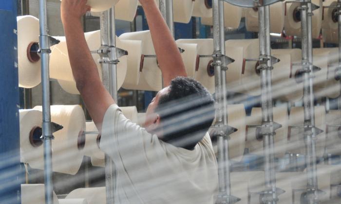 Trabajador de una empresa del sector textil.