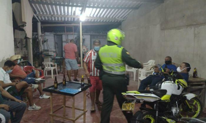 Más de 480 'covid-fiestas' fueron intervenidas por la Policía en Atlántico
