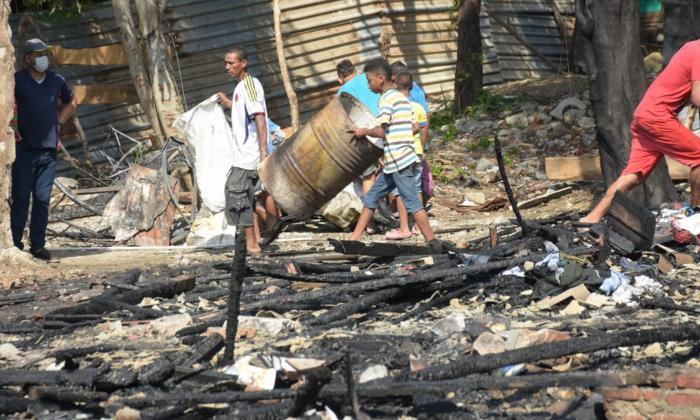 Cinco familias afectadas deja emergencia por incendio en el barrio El Bosque