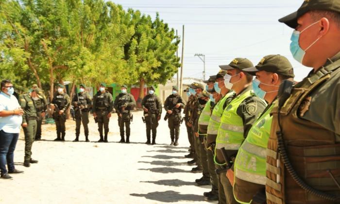 Llegaron los 100 policías que reforzarán la seguridad en Soledad