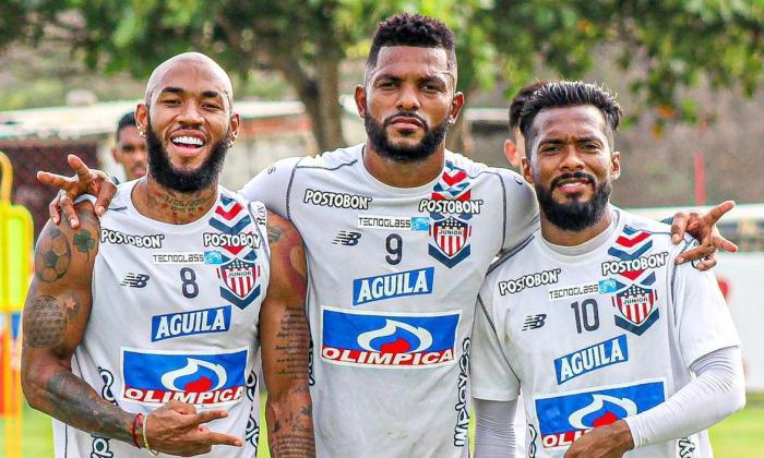 Miguel Borja habla de Junior vs. Santa Fe en la Copa Libertadores