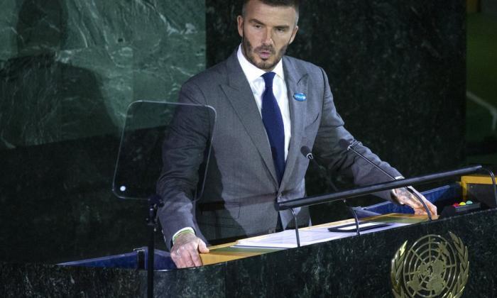 David Beckham es la cara de la campaña de vacunación de la ONU