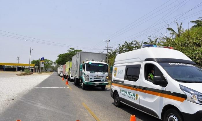 Garantizan transporte de alimentos en Cesar