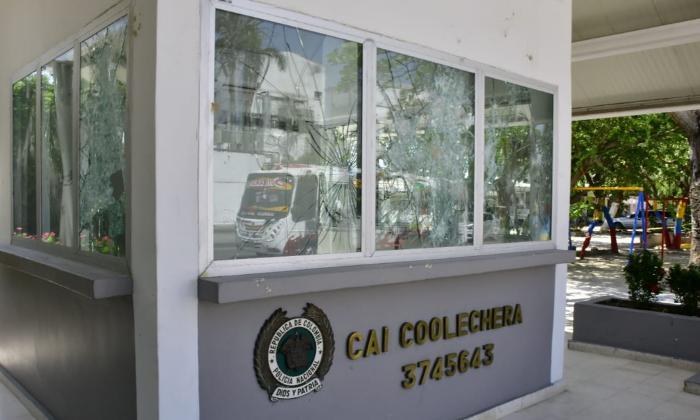 Habitantes del barrio La Luz condenan los actos vandálicos durante manifestaciones